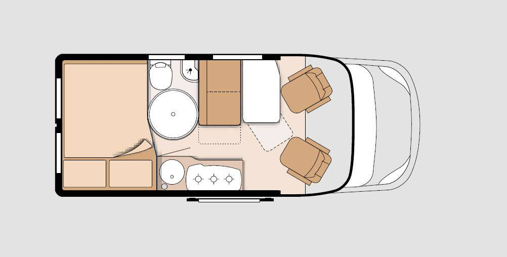 Knaus Box Star 540 MQ Road - Plano - Distribución
