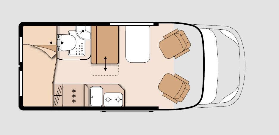 Knaus Box Life 540 MQ - Plano - Distribución