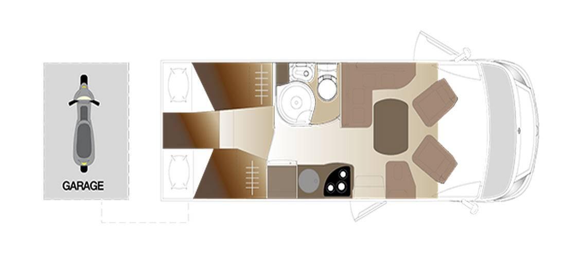 Laika ECOVIP INTEGRALES EV 609 - Plano - Distribución