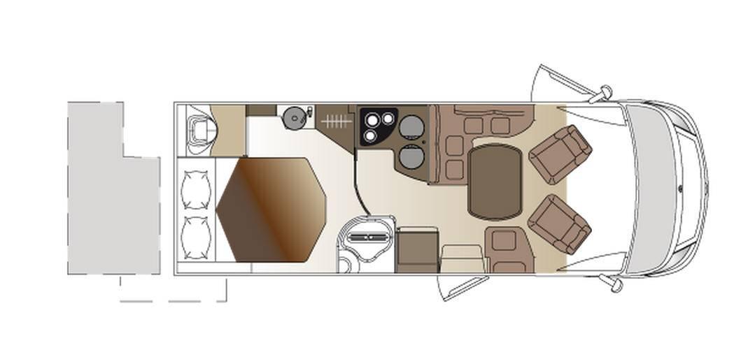 Laika ECOVIP INTEGRALES EV 612 - Plano - Distribución