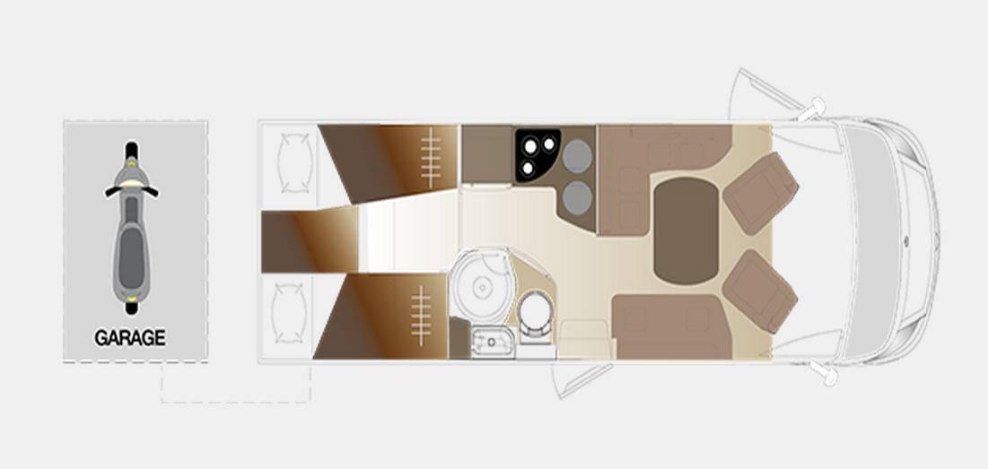 Laika ECOVIP INTEGRALES EV 709 - Plano - Distribución