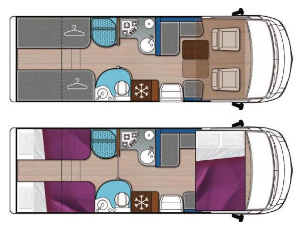 Mobilvetta K-yacht MH85 - Plano - Distribución