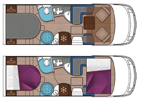 Mobilvetta S-Yacht MH103 - Plano - Distribución