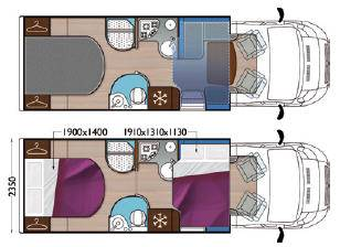 Mobilvetta Kea P63 - Plano - Distribución