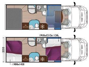 Mobilvetta Kea P67 - Plano - Distribución