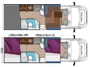 Mobilvetta Krosser P97 - Plano - Distribución