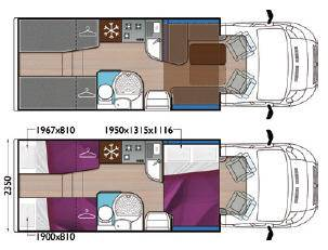 Mobilvetta Krosser P94 - Plano - Distribución