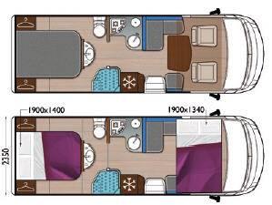 Mobilvetta K-Yacht MH78 - Plano - Distribución