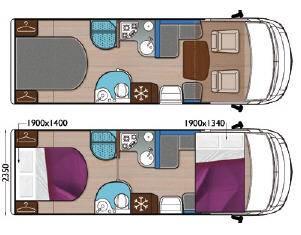 Mobilvetta K-Yacht MH89 - Plano - Distribución