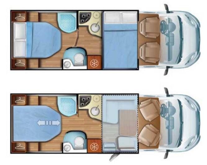 Mobilvetta Kea P62 - Plano - Distribución