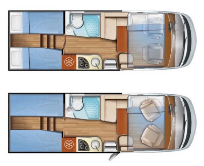 Mobilvetta K-Yacht 85 - Plano - Distribución