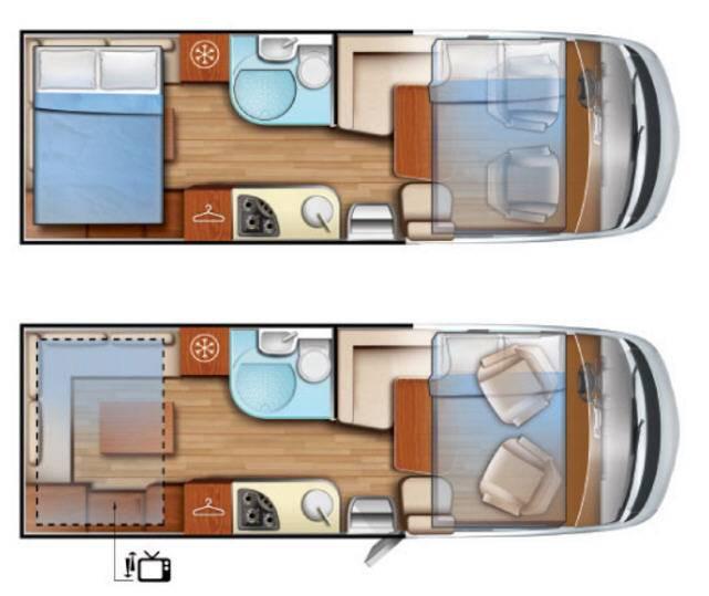 Mobilvetta K-Yacht Tecno line 80 - Plano - Distribución