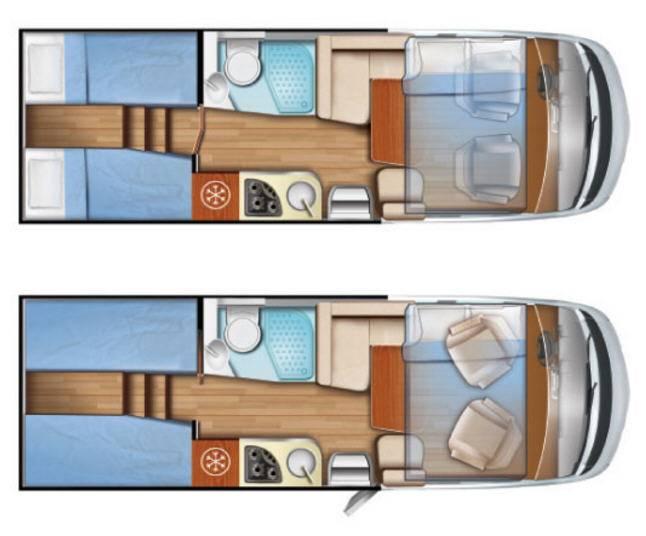 Mobilvetta K-Yacht Tecno line 84 - Plano - Distribución