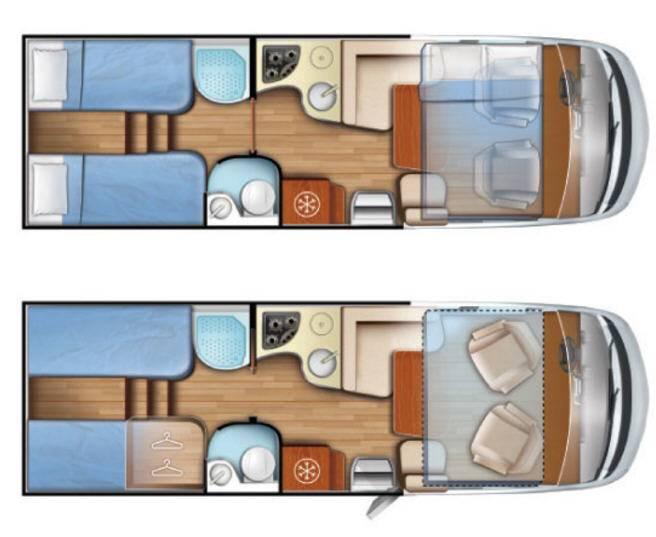 Mobilvetta K-Yacht Tecno line 85 - Plano - Distribución