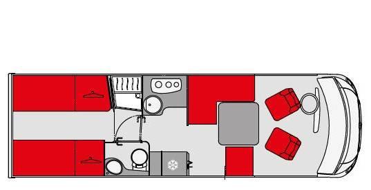 Pilote Galaxy G 781 GJ Sensation - Plano - Distribución
