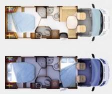 Rapido Serie 6 691 - Plano - Distribución