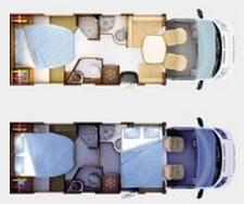 Rapido Serie 6 691 FF - Plano - Distribución