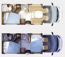 Rapido Serie 7 776 FF - Plano - Distribución
