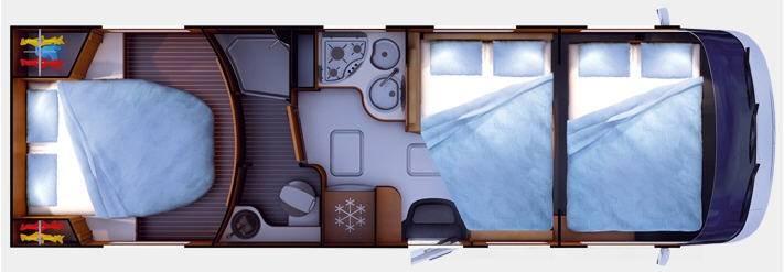 Rapido Serie 9 9000 dFH Design Edition - Plano - Distribución