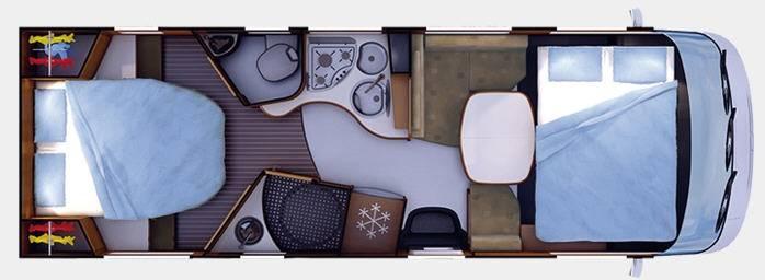 Rapido Serie 9 992 MH Design Edition - Plano - Distribución