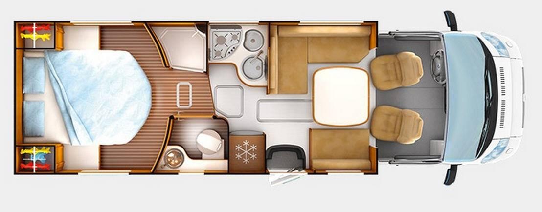 Rapido Serie 7 7090 FF Design Edition - Plano - Distribución