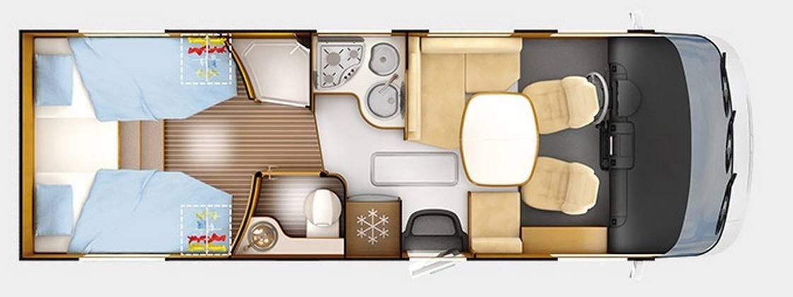 Rapido Serie 9 9066 DF Design Edition - Plano - Distribución
