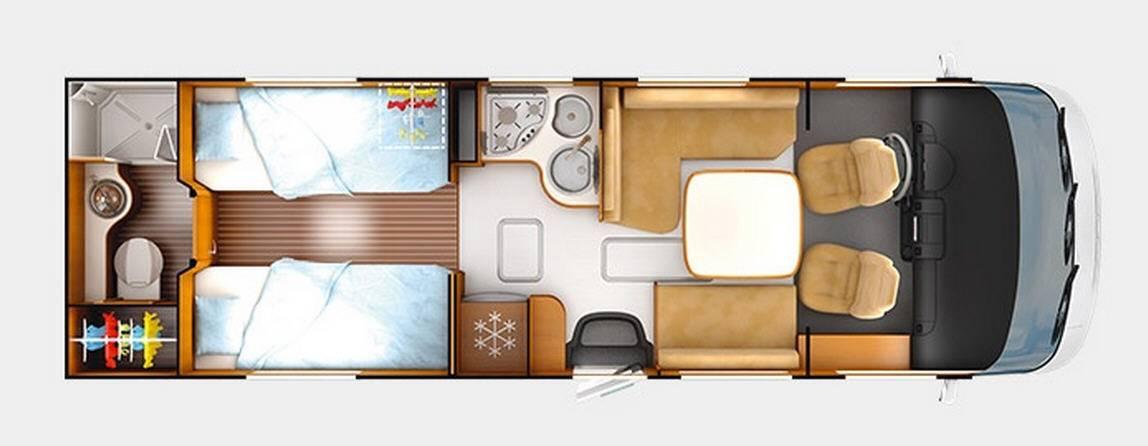 Rapido Serie 9 9005 DFH ALDE - Design Edition - Plano - Distribución