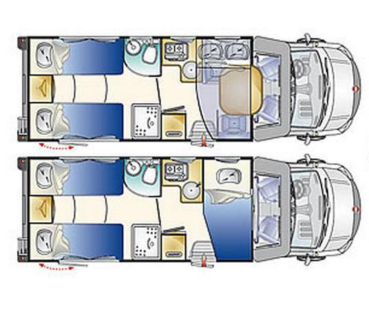 Rimor Sailer 95 PLUS - Plano - Distribución