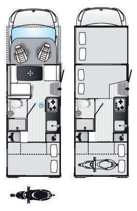 Rimor Koala Elite 722 - Plano - Distribución
