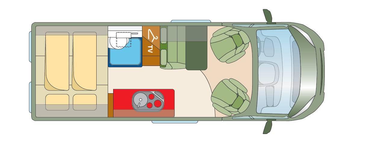 Roadcar R 600 - Plano - Distribución