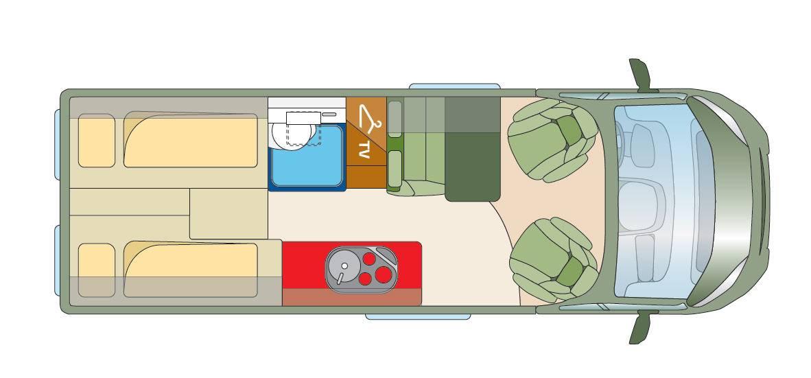 Roadcar R 640 - Plano - Distribución
