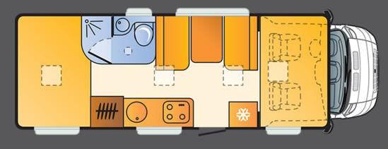Sun Living Lido A49 DP - Plano - Distribución