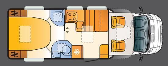 Sun Living Lido S45 SC-New - Plano - Distribución