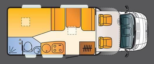 Sun Living Lido S42 DF - Plano - Distribución