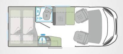 Weinsberg Carabus 541 MQ - Plano - Distribución