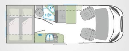 Weinsberg Carabus 601 MQ - Plano - Distribución