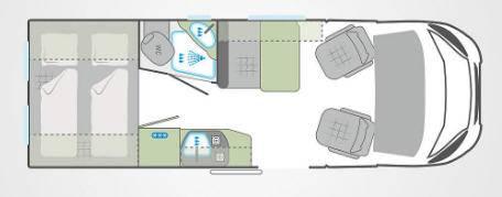 Weinsberg Carabus 601 MQH - Plano - Distribución