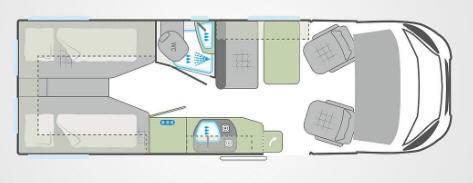 Weinsberg Carabus 631 ME - Plano - Distribución