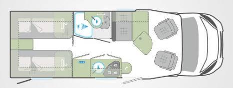 Weinsberg Caraflot 650 MEG - Plano - Distribución