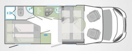 Weinsberg Caraflot 650MFH - Plano - Distribución