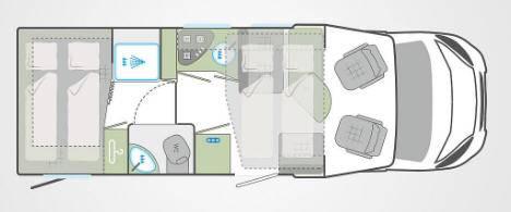 Weinsberg Caraflot 650MGH - Plano - Distribución