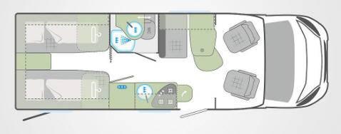Weinsberg Caracompact 600 MEG - Plano - Distribución