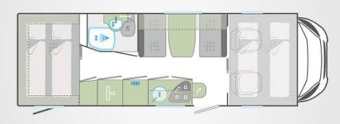 Weinsberg Carahome 700 DG - Plano - Distribución