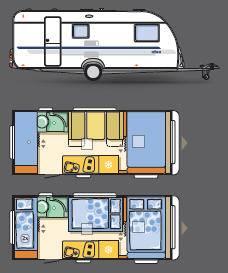 Adria Altea Altea 542 PK - Plano - Distribución