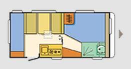 Adria Altea 462 PK - Plano - Distribución