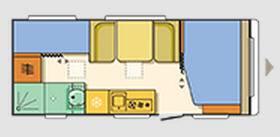 Adria Altea 552 PK - Plano - Distribución