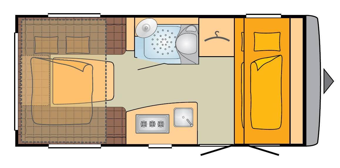 Bürstner Averso Plus 440 TK - Plano - Distribución