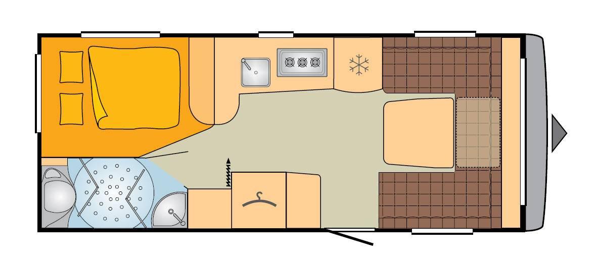 Bürstner Averso Top 465 TS - Plano - Distribución