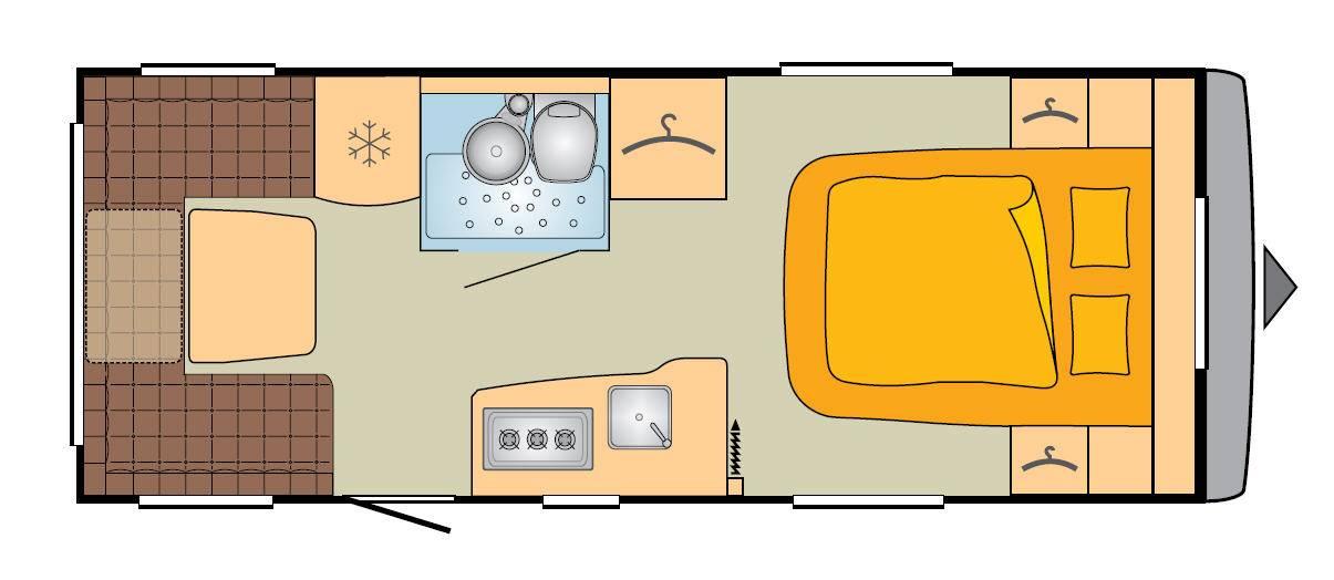 Bürstner Averso Top 485 TS - Plano - Distribución
