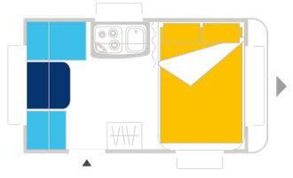 Caravelair ANTARES LUXE 340 - Plano - Distribución